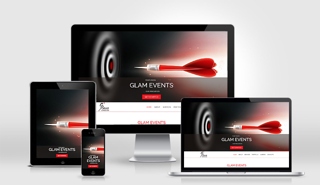 Parallax Website for Glam Events