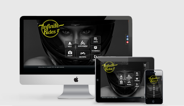 Responsive Website for Infinite Rides