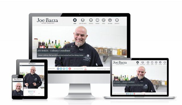 Responsive Website for Chef Joe Barza