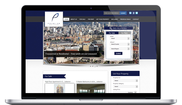 Website for Premium Real Estate