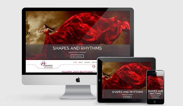 Parallax Website for Shapes & Rhythms