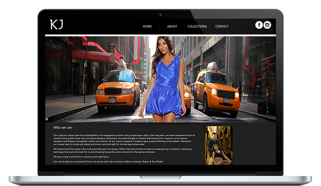 Responsive Website for Katia Jaffal