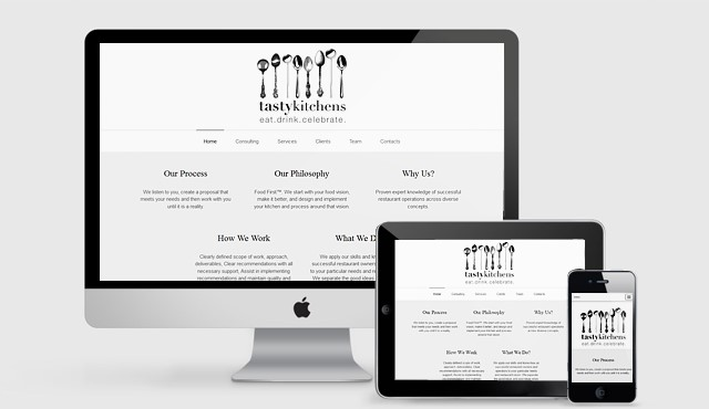 Responsive OnePage Website for Tasty Kitchens