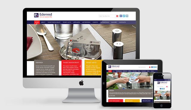 Responsive Website for Edenred