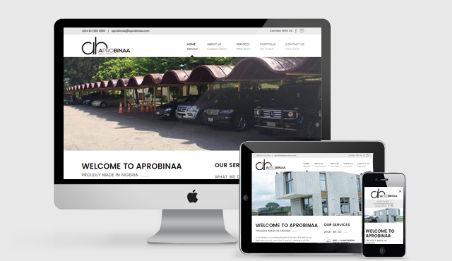 Responsive Website for A-PRO BINAA