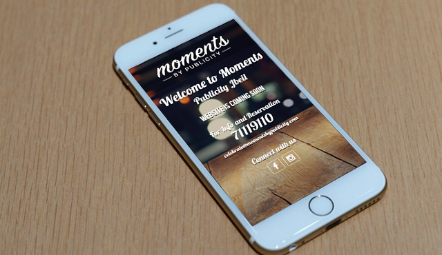 Landing Page for Moments